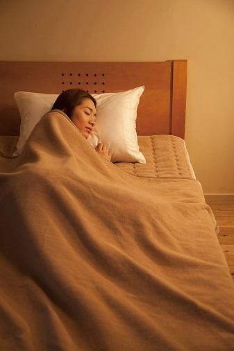 ▲岩盤浴毛布と敷パッド